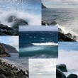 Collage of ocean landscapes - Stock Photo