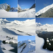 Collage of wintry landscapes - Stok fotoğraf