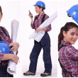 Assertive female construction worker — Stock Photo #7951029