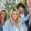 Teenagers smiling — Stockfoto