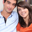 Head and shoulders of young attractive couple — Stock Photo #7951310