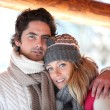 Stock Photo: Couple dressed in winter clothing