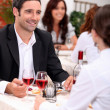 Couple enjoying a romantic meal together — Stock Photo