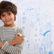 Stock Photo: Little boy drawing