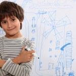Little boy drawing — Stock Photo