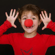 Little girl clowning around — Stock Photo #7953546