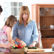 Stock Photo: Family Cooking