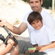Father and son fishing — Stock Photo #7954911