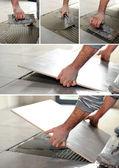 Manitas separarse pegamento en el piso — Foto de Stock