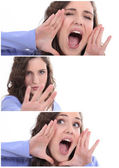 Woman expressing herself — Stock Photo
