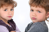 Sulky children — Stock Photo
