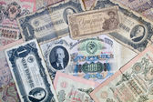 Fondo de rublos soviéticos — Foto de Stock
