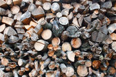 Pile of pine wood — Stock Photo