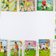 Stock Photo: Background of postage stamps