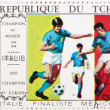 Foto de Stock  : Postage stamp dedicated to football