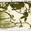 Stockfoto: Postage stamp dedicated to football