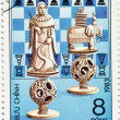 Postage stamp dedicated to Chess — Stock Photo #7854194
