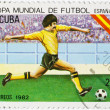 Postage stamp dedicated to the football championship — Stock Photo
