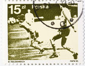 Postage stamp dedicated to football — Zdjęcie stockowe