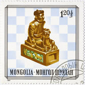 Postage stamp dedicated to Chess — Stock Photo