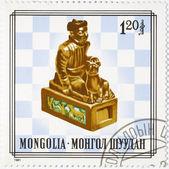 Estampilla dedicada al ajedrez — Foto de Stock