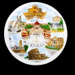 Souvenir plate depicting the Rome — Stock Photo #7955657