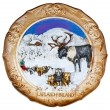 Royalty-Free Stock Photo: Souvenir plate depicting the Lapland - Finland