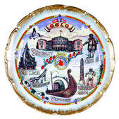 Souvenir plate depicting the Oslo — Stock Photo
