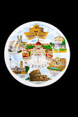 Souvenir plate depicting the Rome — Stok fotoğraf