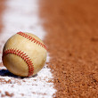 Used Baseball on the Chalk Line — Stock Photo #6793026