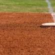 Baseball Field First Base — Stock Photo