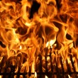 Flame of a Barbecue - Foto Stock