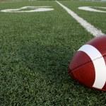 American Football near the Fifty — Stock Photo #6894396