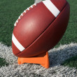 American Football teed up for kickoff — Stock Photo #6894547