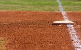Baseball Field First Base — Stock Photo