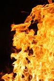 Feuer und Flamme-detail — Stockfoto