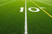 American Football Field Ten Yard Line — Stock Photo