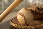 Baseball in a Glove — Stockfoto