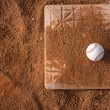 Stock Photo: Baseball on Base