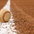 Baseball on the Chalk Line — Stock Photo #6925143