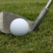 Stok fotoğraf: Golf Ball and Wedge