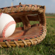 Baseball in a Glove - Stock Photo
