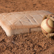 Baseball near Second Base — Stock Photo
