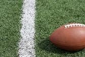 Football on the field — Stock Photo