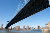 Underview of Manhattan Bridge — Foto Stock