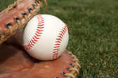 Baseball in a Glove — Foto de Stock