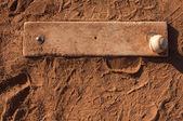 Baseball on the Pitchers Mound — Stock Photo