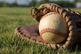 Baseball in a Glove — 图库照片