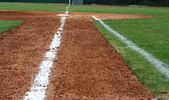 Line to First Base — Stock Photo