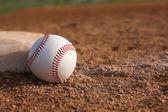 Baseball near Third Base — Stock Photo